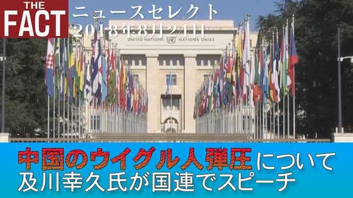 【ニュース】中国のウイグル人弾圧について及川幸久氏が国連でスピーチ【ザ・ファクト2018 08 24】