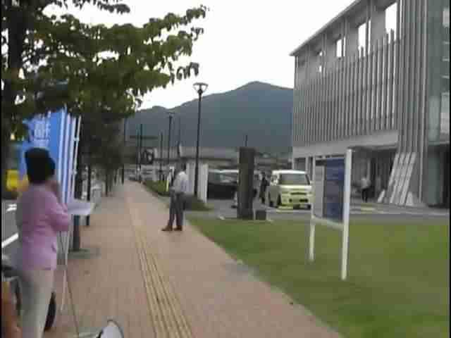 NHKの偏向報道に抗議 山口放送局前にて  2012年9月29日