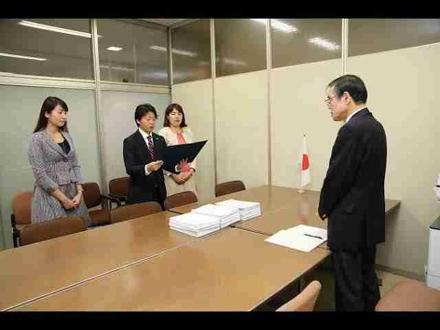 「中国の人権擁護」促進求め 幸福実現党・東京都本部を中心に 政府に署名提出