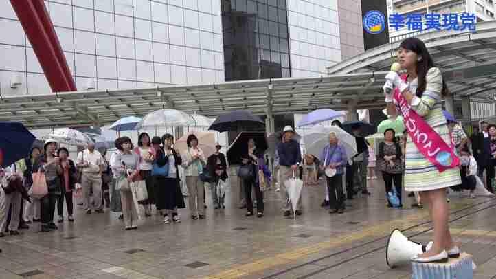 七海ひろこ街宣 in 立川駅北口(7/21)