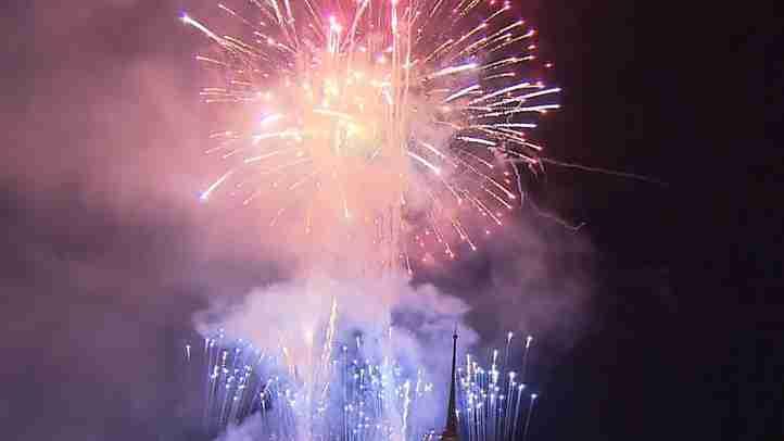 【花火大会】聖地・四国正心館(2015.7.7)、総本山・那須精舎(2015.7.25)で開催