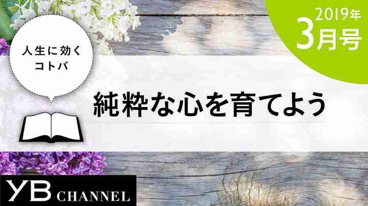 【癒しの動画】「純粋な心を育てよう」(『幸福への方法』より)