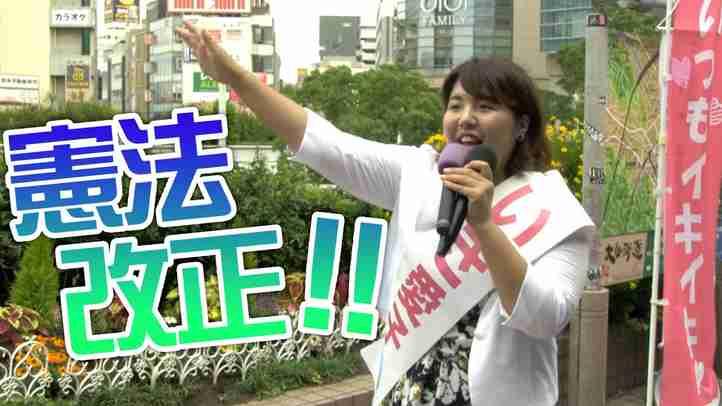 【参院選2019:神奈川選挙区】「いつもイキイキ!いき愛子」が憲法改正を訴える【ザ・ファクトREPORT】