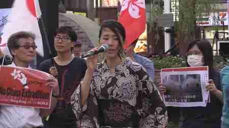 香港人留学生たちが新橋駅前で日本人に支援を訴えるデモ【ザ・ファクトREPORT】