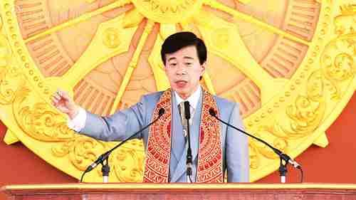 """2011年3月 インド・ブッダガヤでの講演会""""The Real Buddha and New Hope"""""""
