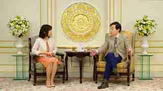大川咲也加副理事長との対談の様子