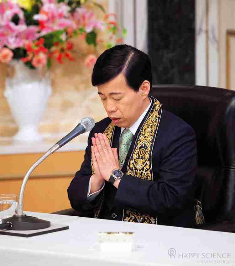 松下幸之助氏の霊を招霊する大川隆法総裁
